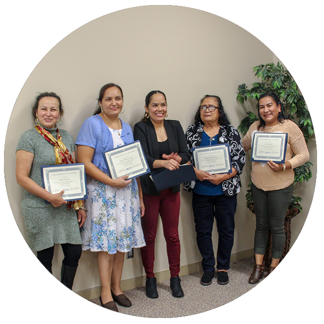 Group of women with diplomas